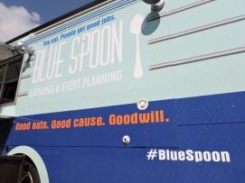 Blue spoon food truck